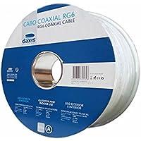 Cable coaxial ccs, Al de interior RG6 Blanco en bobina de 100m.