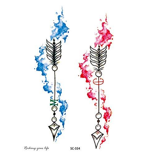 OHQ Temporäre Klebe Tattoos Flash Tattoos temporär Tätowierung Körperkunst Aufkleber Tattoos Sticker Körper Schmuck für Urlaub Geschenk Mädchen und junge Frauen