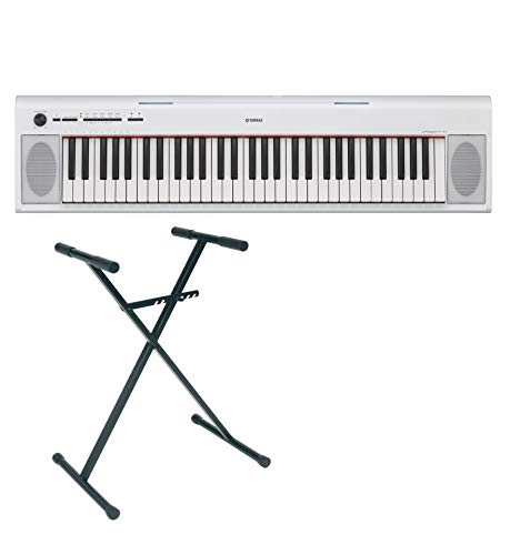 Yamaha - Set pianoforte digitale NP-12 supporto a X, colore: bianco