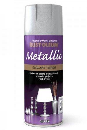 rust-oleum-multi-purpose-aerosol-spray-paint-400ml-elegant-finish-metallic-silver-1-pack