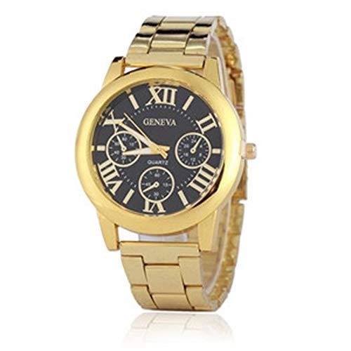 HTRHHG Damenuhr Uhren Frauen Quarzuhr Genf Rose Gold Uhr Frauen Uhren, 2 (Rose Gold Luxus-uhr Genf)