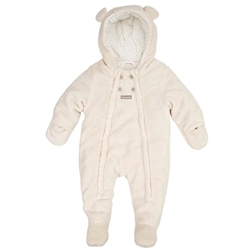 Bornino Basics Plüschoverall weiß/Schneeanzug für Jungen-Mädchen