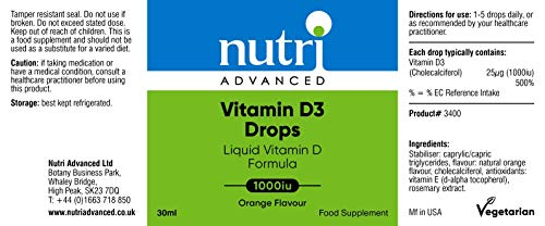 Nutri Advanced D3 Tropfen 1000 IE 28 ml Flüßig
