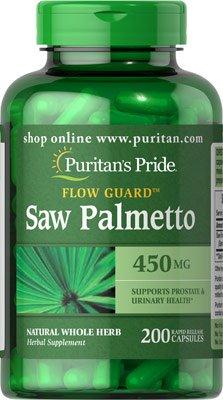 Saw Palmetto Serenoa repens 450Mgrs 200caps./Prostata./AFRODISIACO. by Puritan's Pride