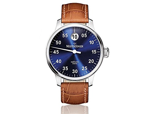 MEISTERSINGER MEN'S SALTHORA META SUNBURST BLUE 43MM AUTOMATIC WATCH SAM908
