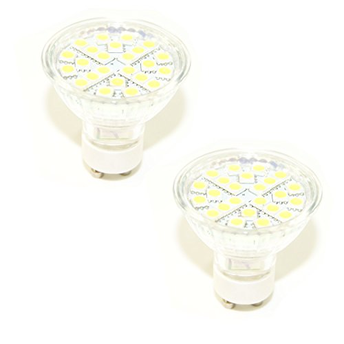 Ex-Pro® [2Pack]-GU10C, gu10-c 24smled weißes Licht Cool Running Tageslicht Glühbirnen Ersatz für Mini Daylight Kits. (EX-Pro® und anderen Marken mit Fassung GU10). 220V True Tageslicht. -