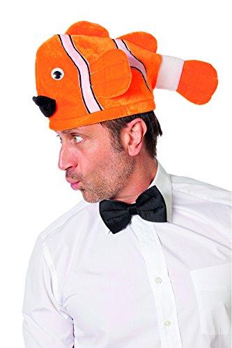 Jannes 97070 Spaß-Hut Fisch Mütze Clownfisch Einheitsgröße Orange