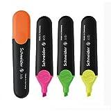 Schneider Job - 10x Surligneurs à pointe biseautée - Couleurs disponibles : jaune, orange, fuchsia, vert 5 CONFEZIONI DA 10PZ jaune