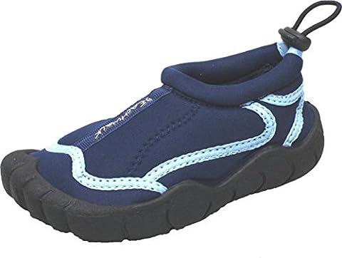Bockstiegel Kinder Neopren Aquaschuh Langeoog, Farbe:blau,