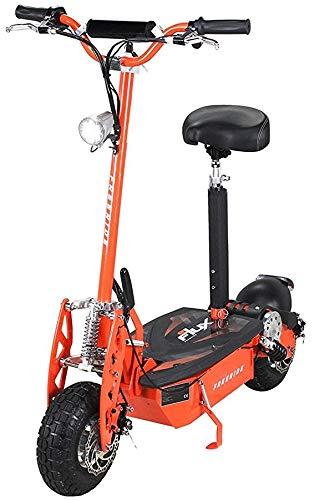 E-Scooter Roller Original E-Flux Freeride 1000 Watt 48 V mit Licht und Freilauf Elektroroller E-Roller in vielen Farben (orange)