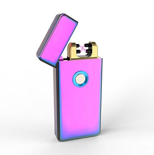 VVAY Mecheros Encendedor Eléctrico Plasma Doble Arco USB Recargable sin Llama sin Gas