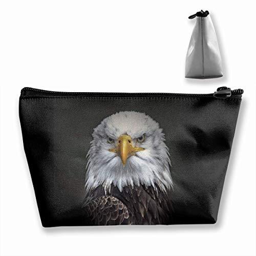 Womens Make-up Tasche Portable Travel Kosmetiktasche Lagerung American Bald Eagle Fashion Zipper Trapez Geldbörse (Geldbeutel American Eagle)