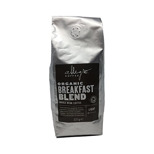 Allegro Coffee Organic Breakfast Blend Whole Bean Coffee, 227 g 411Fm0LKERL