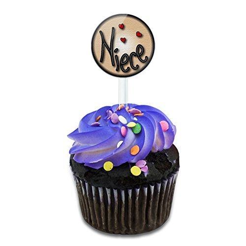 Nichte Love Herzen Kuchen, Cupcake Picks Set Made auf Terra