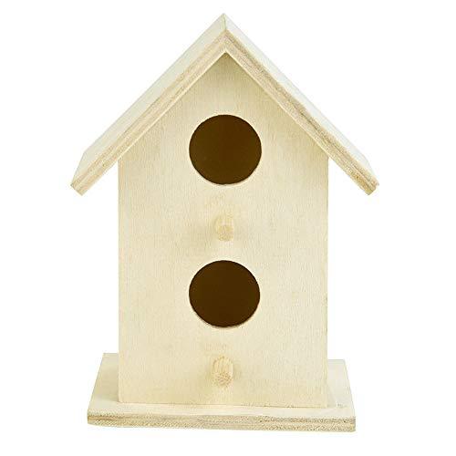 Aspen Holz (LNIMIKIY Vogelkäfig für draußen, Zwei Ebenen, langlebiges Kabinendesign, Herzform, einfache Installation, Aspen Holz, Basteln, Garten, Exquisite DIY Dekoration, hängendes Nest Papageien)
