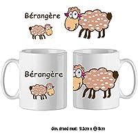 Texti-cadeaux-Mug Mouton-personnalisé avec un prénom exemple Bérangère