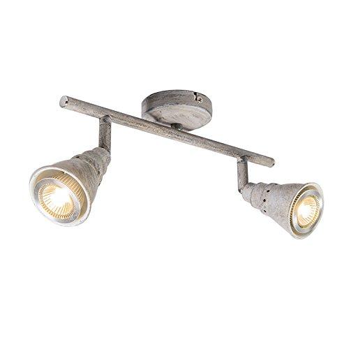 QAZQA Landhaus/Vintage / Rustikal/Retro Spot/Spotlight / Deckenspot/Deckenstrahler / Strahler/Lampe...