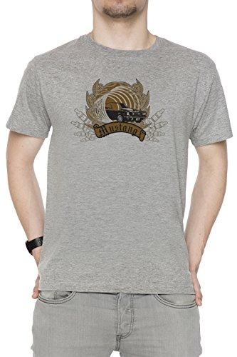 Mustang Uomo T-shirt Grigio Cotone Girocollo Maniche Corte Grey Men's T-shirt