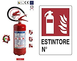 - Estintore polvere da 6Kg 21063-78 , temperatura di utilizzo da -30°C a +60°C, costruito in accordo alla norma UNI EN 3-7:2008 (D.M. 7.1.2005), approvato e certificato secondo la direttiva per attrezzature a pressione PED 2014/68/UE.  - Tutti gli es...