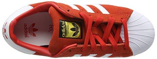 adidas Superstar, Baskets Basses Mixte Enfant Rouge (Red/Ftwr White/Ftwr White)