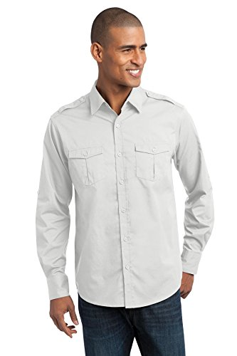 Port Authority Stain-Release Roll Sleeve Twill Shirt. S649 (Twill Authority Shirt Port)