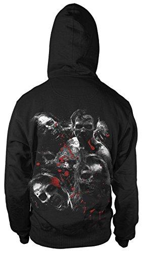 Zombie dead Kapuzen-Sweatshirt Hoodie Kapuzen-Pullover Gamer Film Fun Fan ()