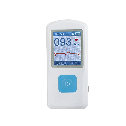 Denshine ECG EKG-Maschine Monitor Heart Beat, USB, Bluetooth, LCD PM10