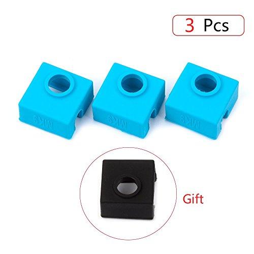 Stampante 3D silicone calzino, Fysetc riscaldatore Block silicone copertura MK7MK8MK9Hotend riscaldatore proteggere per Creality cr-10mini S4, S5Anet A8Ender 3e più–, MK9 Blue, 3