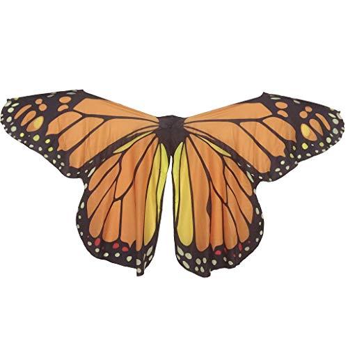 Jolie Schmetterlingsflügel Umhänge für Frauen Kinder Weich Nymphen-Feenflügel Bauchtanz Kostüm Mehrfarbig - Bauchtänzerin Kostüm Für Kids