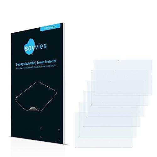 6x Savvies SU75 UltraClear Displayschutz Schutzfolie für Blaupunkt Endeavour TV Seven (ultraklar, mühelosanzubringen)