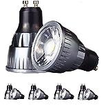 SmartSun LED-Strahler mit langem Hals, GU10, 6 W, Warmweiß, Tagesweiß, Kaltweiß, nicht dimmbar, entspricht 50 W Halogen-Glühbirne, super hell, energiesparend, für Innenbereich, Wohnzimmer, Esszimmer, Schlafzimmer, Beleuchtung, Einbauschiene, Schrankbeleuchtung, Deckeneinbauleuchte, Tageslicht  Weiß, GU10, 6.00W 230.00V