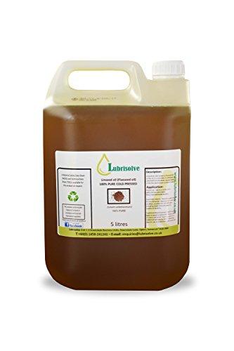 Lubrisolve, olio di semi di lino,100% puro, pressato a freddo,5litri