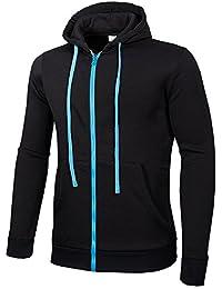 COCO clothing Sport Chaqueta Hombre Cazadoras Universidad Casual Jacket  Color Sólido Basic Sudaderas Abrigos Hoodie Juvenil 76f105eda053