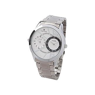 Oskar Emil 's Cumbria. Reloj De Hombre con dos zonas horarias de acero inoxidable.
