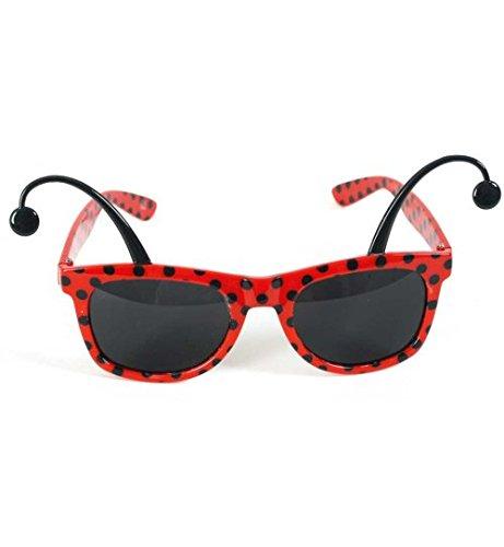Brille Marienkäfer mit Fühlern Sonnenbrille Fasching Käfer rot