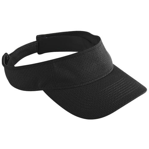 Adult Athletic Mesh Visor BLACK OS (Augusta-mesh-visor)
