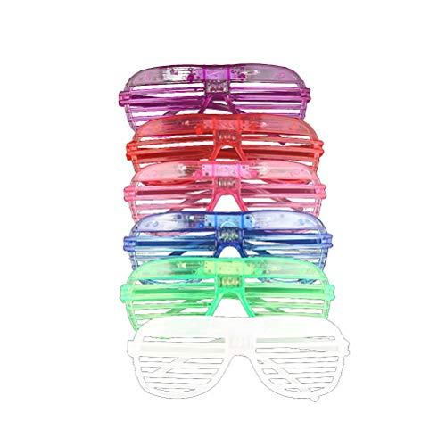 Toyvian 12 stücke Glow in The Dark LED Gläser Leuchten Gläser Sonnenbrillen Shutter Shades Zubehör Neon Party Supplies Gefälligkeiten (In Für Dark Zubehör Partys The Glow)