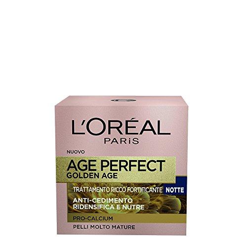 L'Oréal Paris Age Perfect Pro-Calcium Crema Viso Fortificante, Notte, 50 ml