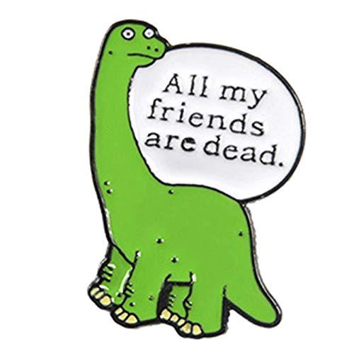 dfgjdryt Hochwertige niedliche Emaille-Anstecknadel Kragen Anstecknadeln Cartoon Dinosaurier Anstecknadel Anstecker für Geburtstag -