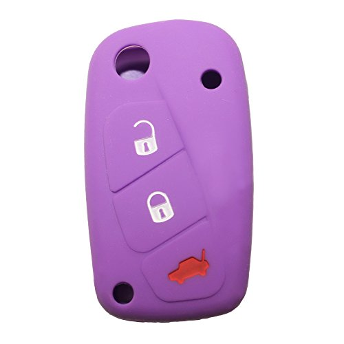 Fiat 3 Buttons Silicone Car Key ...