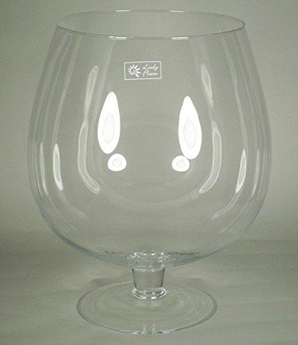 INNA Glas XXL Cognacglas Roger auf Standfuß, Kugel/rund, klar, 37,5cm, Ø23,5cm/Ø30cm - Riesen Glas/XXL Glas