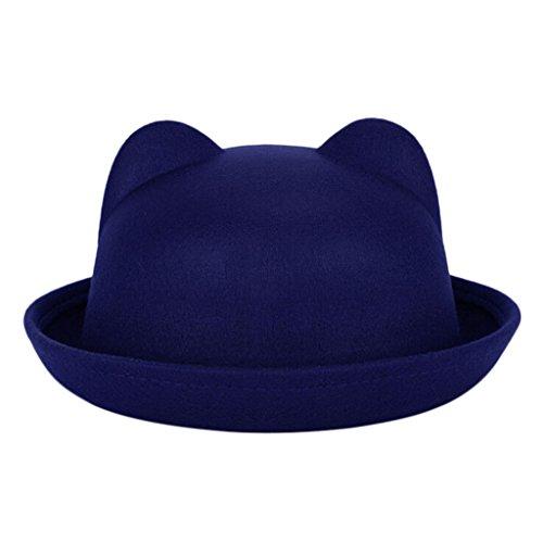 chendongdong - Chapeau - Femme Bleu - Noir foncé