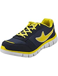 Fudron Perfect Blue Yellow Stylish Sports & Running Shoes For Men