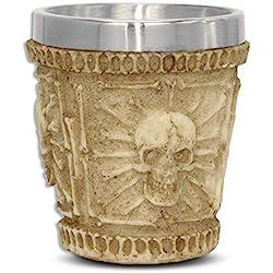 mtb more energy Copa Líquido venenoso - Vaso pequeño (5cl) - Calavera cráneo - Altura 6 cm - Decorazione Horror Medieval Fantástico