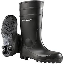 Dunlop 142VP - Botas de agua unisex, color schwarz (schwarz(zwart) 00), talla 43