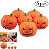 Outgeek 6 PCS 2018 Tipo de Calabazas Artificiales de Halloween Fake...