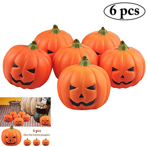 Outgeek 6 PCS 2018 Tipo de Calabazas Artificiales de Halloween Fake Simulación Realistic Props Garden Party Decoration Decoración de Halloween DIY Decoración de Halloween