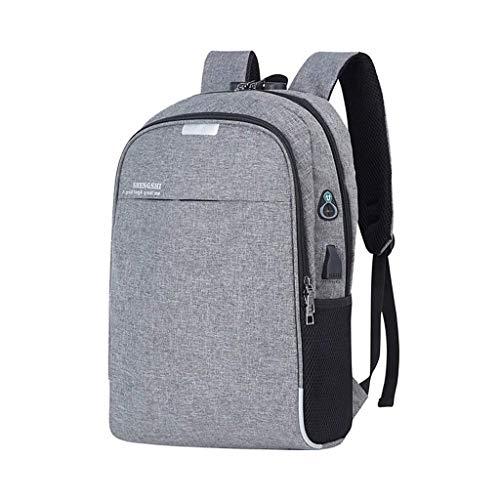 SummarLee USB-Aufladung beiläufiger Rucksack Multifunktions-Diebstahlsicherung Business Computer Bag,Gray
