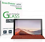 amFilm (2 Pack) Screen Protector Glass for Microsoft Surface Pro 7, Surface Pro 6, Surface Pro 5, and Surface