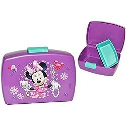 Lunch box/contenitore per il pane–Minnie Mouse lilla con extra uso–Porta pane vaso cucina cibo per ragazze Mouse Mickey bambini–Portamerenda/divisorio